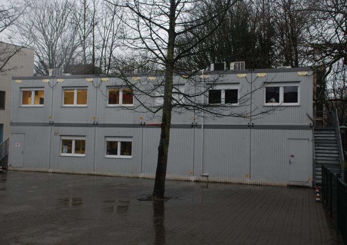 Herbruikbaar schoolgebouw met een verdieping