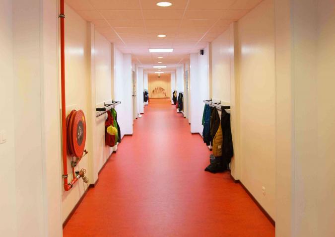 Gang in modulaire school Sint-Gabriël Boechout