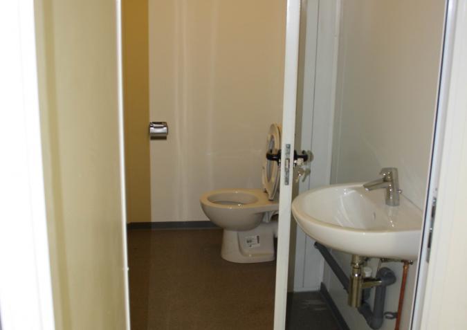 Er is ook een kleine sanitaire ruimte.
